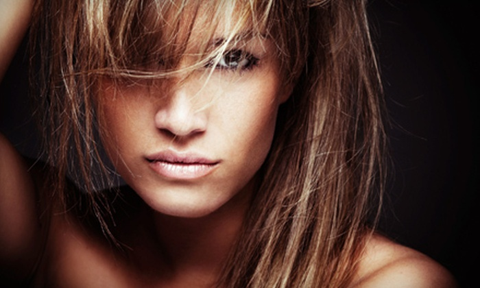 Salon Ji - Westchester Square Shopping Center: Cut and Style or a Cut-and-Color Package with Color Service, Deep Conditioning, Cut, and Style (Up to 55% Off)