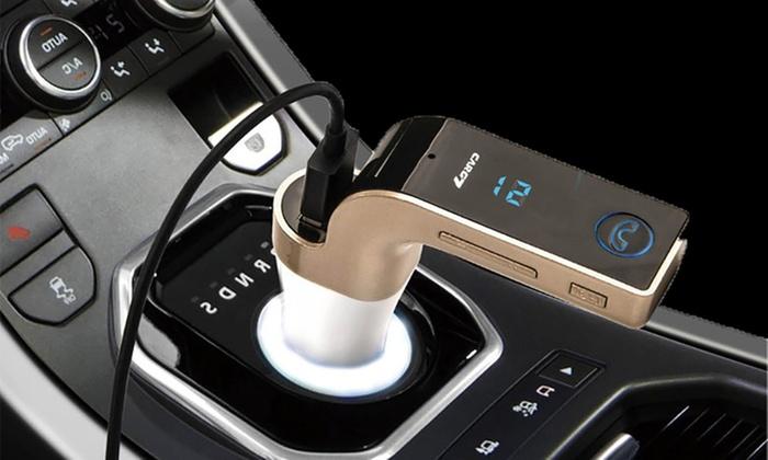 Groupon Goods Global GmbH: 1 ou 2 kits mains-libres Bluetooth/transmetteur de musique pour voiture dès 16,99 € (jusqu'à 62% de réduction)