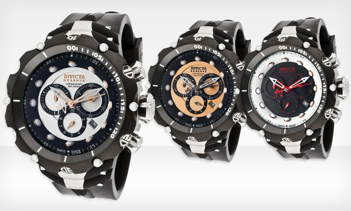 Invicta Men's Venom Watches: $199.99 for Invicta Men's Venom Watch ($1,495 List Price). Multiple Styles Available. Free Shipping and Returns.