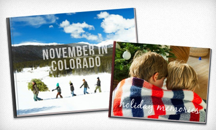 "Picaboo: One 8""x8"", One 12""x12"" or 11""x14"", or Two 8.5""x11"" Classic Custom Hardcover Photo Books from Picaboo (Up to 68% Off)"