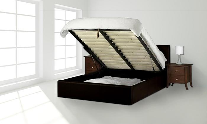 Superb Gaslift Ottoman Bed Frame Groupon Andrewgaddart Wooden Chair Designs For Living Room Andrewgaddartcom