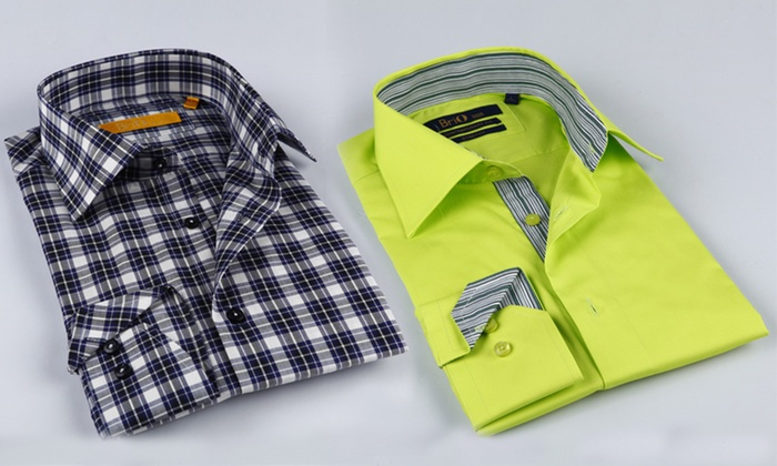 Brio Men's Dress Shirts: $25.99 for a Brio Men's Dress Shirt ($180 List Price). Multiple Colors Available. Free Shipping and Returns.