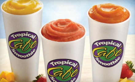 Sandwiches or Wraps  Smoothies  Chips  and Cookies at Tropical Smoothie Caf� (Up to 51% Off). Three Options Available.
