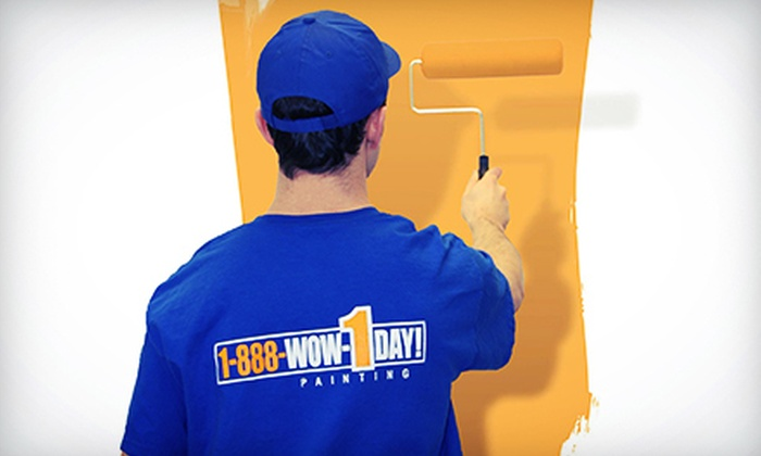 1-888-WOW-1DAY! - Overland Park: Seven Hours of Painting Services by One or Two Professional Painters from 1-888-WOW-1DAY! (Up to 52% Off)