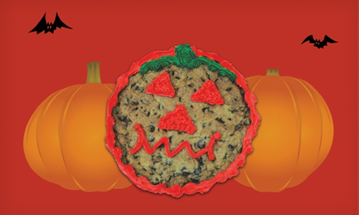 Hungry Bear Cookies - Multiple Locations: One or Two Large Halloween Pumpkin Cookies from Hungry Bear Cookies (53% Off)