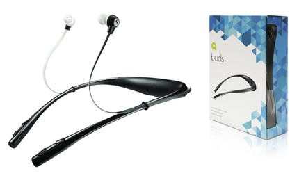 groupon daily deal - Motorola Buds SF500 Universal Bluetooth Stereo Headset With Mic in Black or White. Free Returns.