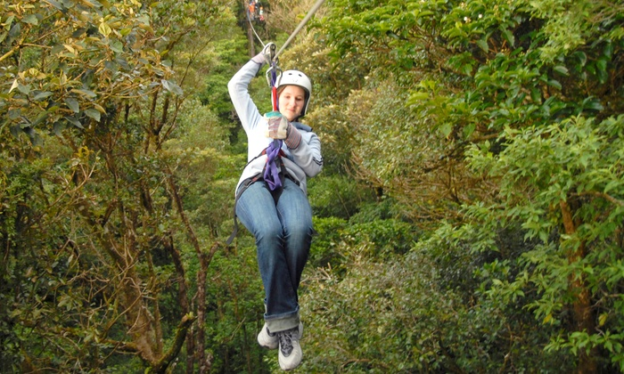 Adventureworks - Hot Springs: Two-Hour Zipline Tour for Two Adults or Two Adults and Two Children at Adventureworks (Up to 50% Off)