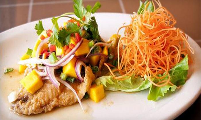 ThaiDeelish Restaurant - Ashburn Farm: Thai Food or Catering at ThaiDeelish Restaurant (Up to 55% Off). Two Options Available.