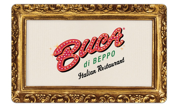 Buca di Beppo: $25 Voucher to Buca Di Beppo + 10% back in Groupon Bucks