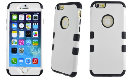 Hybrid Rugged Case for Apple iPhone 4/4s, 5/5s, 5c, 6 with 4.7