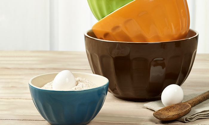 Set of 4 Cafe Mixing Bowls: Set of 4 Cafe Mixing Bowls