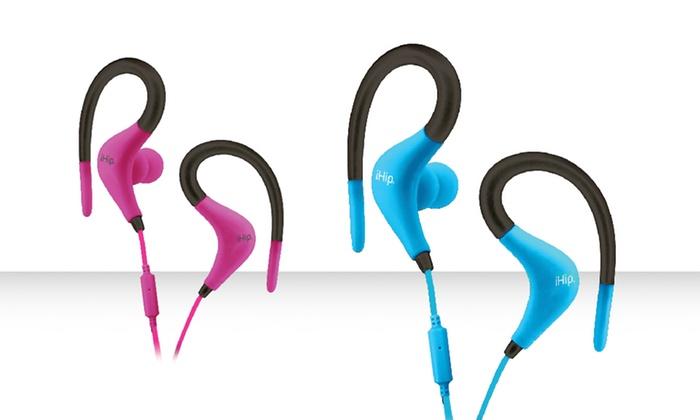 iHip Sport In-Ear Headphones with Mic: iHip Sport In-Ear Headphones with Mic. Multiple Colors Available. Free Returns.