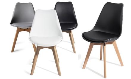 Lot de 2 ou 4 chaises scandinaves TUL avec mousse dassise