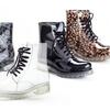 Henry Ferrera Lace-Up Combat Rain Boots