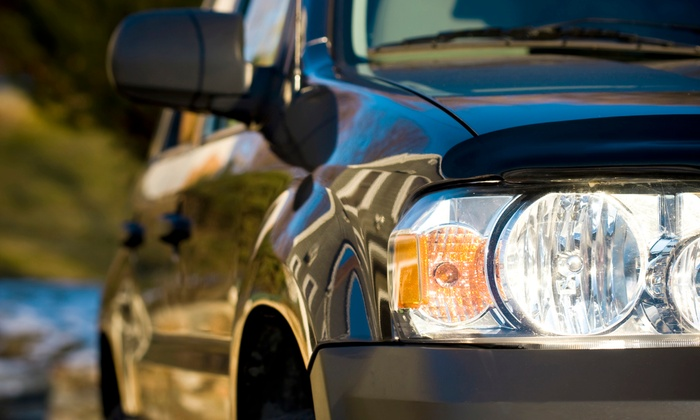 Cooks Collision - Multiple Locations: Headlight Restoration, Interior and Exterior Detail, or Both at Cooks Collision (Up to 79% Off). Six Options Available.