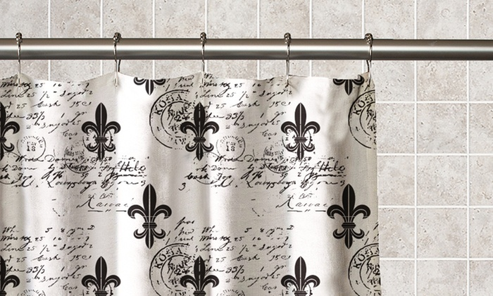 Fleur de lis peva shower curtain groupon goods - Fleur de lis shower curtains ...