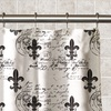 Classic Fleur De Lis Waterproof PEVA Shower Curtain
