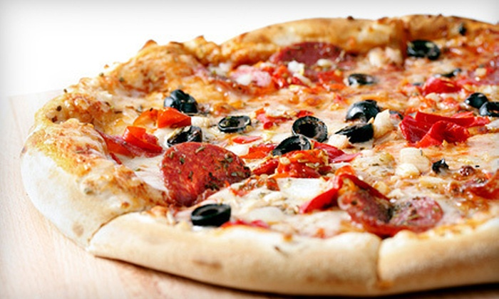 The Mafia House - 4: Pizza, Subs, and Salads at The Mafia House in Pigeon Forge (Up to 52% Off). Two Options Available.