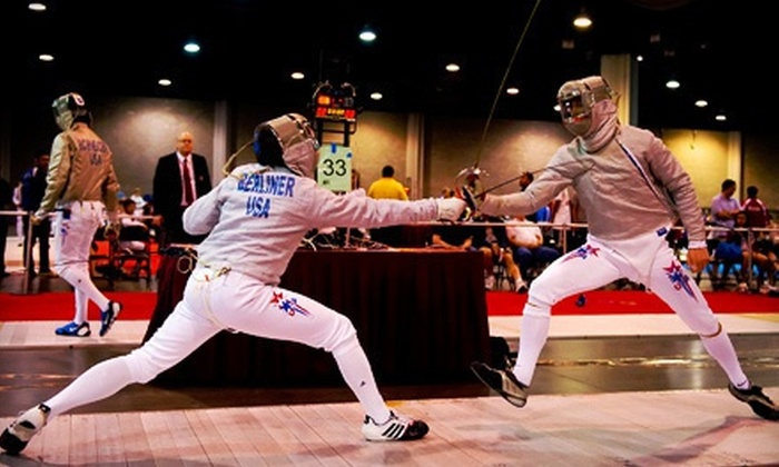 SON DuelLIFE Olympic Fencing Center - Oakland Park: 1, 5, or 10 Fencing Classes with Introduction and Equipment at SON DuelLIFE Olympic Fencing Center (Up to 68% Off)