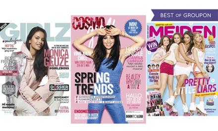 6 of 12 nummers GIRLZ, CosmoGIRL! of MEIDEN magazine, het abonnement stopt automatisch