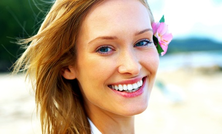 Dental Exam, Cleaning, and X-Rays with Optional Take-Home Whitening System at Harris Dental (Up to 90% Off)