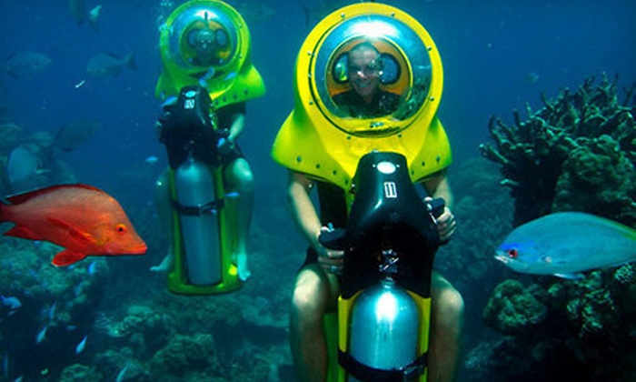 Island Water Sports Hawaii - Hawaii Kai: $95 for a Submarine-Eco-Scooter and Turtle-Watching Adventure from Island Water Sports Hawaii ($198 Value)