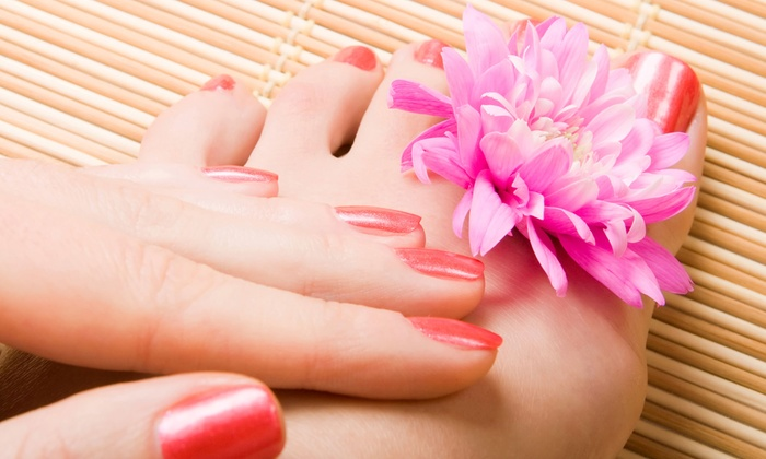 Red Nails - Minneapolis: One or Three Mani-Pedis at Red Nails (Up to 52% Off)