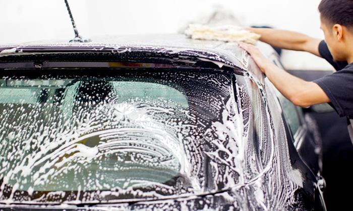 hand car wash and detail patriot car wash groupon. Black Bedroom Furniture Sets. Home Design Ideas