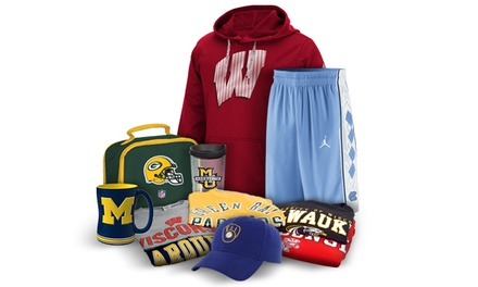 College and Pro Sports Apparel, Novelties & Merchandise at Campus Colors (Up to 50% Off)