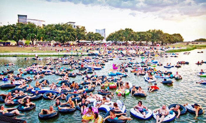 Tube the Trinity at Rockin' The River - Downtown Fort Worth: Tube the Trinity at Rockin' the River for 2, 4, or 6 at Panther Island Pavilion (Up to 61% Off). Six Dates Available.