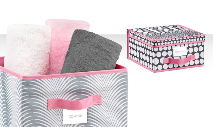 Set of 2 Medium Storage Boxes or Cubes: Set of 2 Medium Storage Boxes or Cubes. Multiple Styles Available. Free Returns.