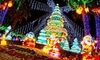 Global Winter Wonderland -Sacramento - Santa Clara: Holiday Theme-Park Visit with Optional Unlimited Rides for One at Global Winter Wonderland (Up to 52% Off)