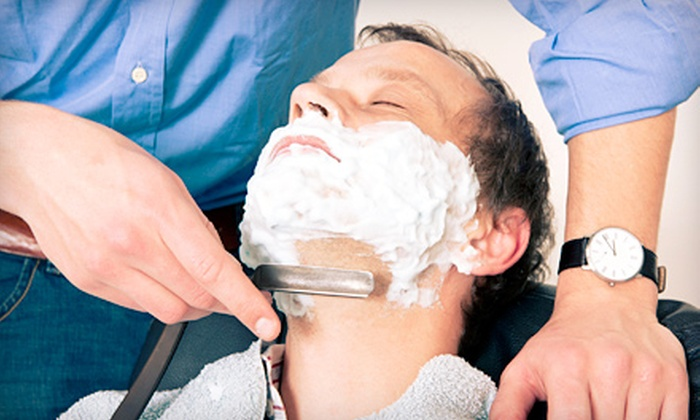 The Executive Cut and Shave - Canoga Park: Deluxe Men's Shave with Two 60-Minute Massages or One 90-Minute Massage at The Executive Cut and Shave (Up to 57% Off)