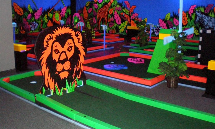 Glowgolf - Brick: Three Rounds of Indoor Glow-in-the-Dark Mini Golf for Two, Four, or Six at Glowgolf (Up to  56%Off)