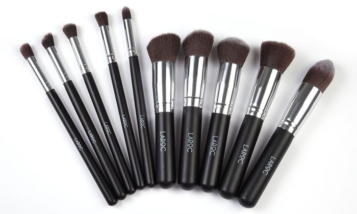 LaRoc Ten-Piece Professional Make-Up Brush Set for £4.99