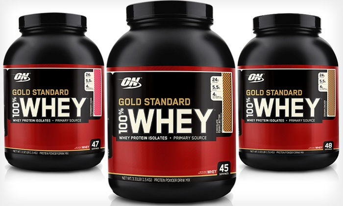 Gold Standard Whey Protein by Optimum Nutrition: $39 for 3.3 Pounds of Gold Standard 100% Whey Protein ($78.99 List Price). Three Flavors Available. Free Shipping.