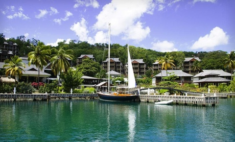 St. Lucia Hotel Overlooking Bay