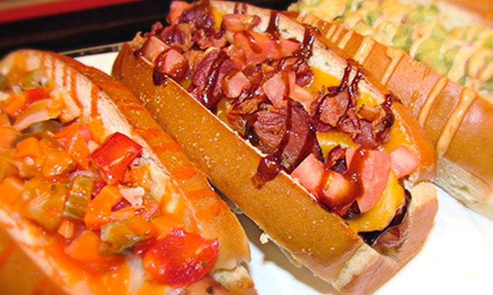 Dawg En V - Bucktown: $15 for Three Groupons, Each Good for $10 Worth of Gourmet Hot Dogs at Dawg En V ($30 Total Value)