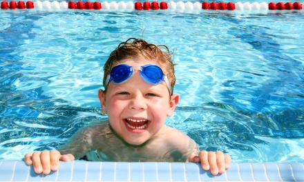 Four Private Swim Lessons with One-Week or One-Month Pool and Gym Family Pass to 61% Off)