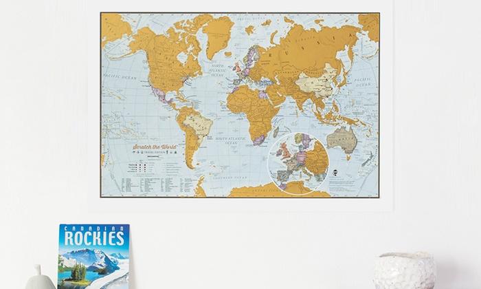 Cartina del mondo da grattare