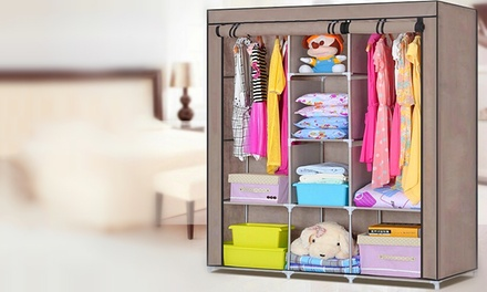 Canvas Multi Shelved Wardrobe from AED 89