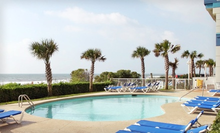 Stay at Carolinian Beach Resort in Myrtle Beach, with Dates into December. Up to Two Kids Stay Free.