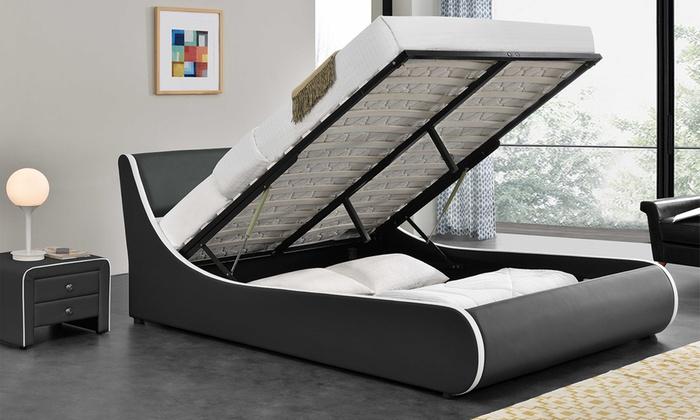 Eenpersoonsbed Met Opbergruimte : Tot 56% op bed met opbergruimte groupon producten