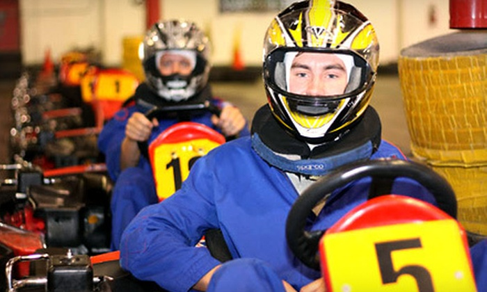 Fast Lap Indoor Kart Racing - Jurupa: Three Go-Kart Races for One, Two, or Four at Fast Lap Indoor Kart Racing (Up to 67% Off)