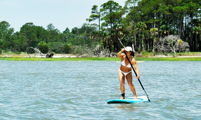 East Coast Paddleboarding - Tybee Island: $39 for a One-Hour Paddleboard Rental and Lesson from East Coast Paddleboarding ($75 Value)