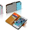 Faux Leather Wallet Case with Wrist Strap for iPhone 4, 4S, 5, or 5S