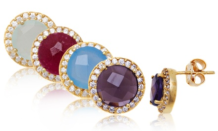 Genuine Gemstone & Swarovski Elements Earrings – Online Deal
