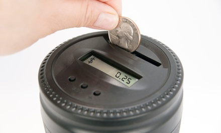 The Grande Coin-Counting Cup Bank. Free Returns.