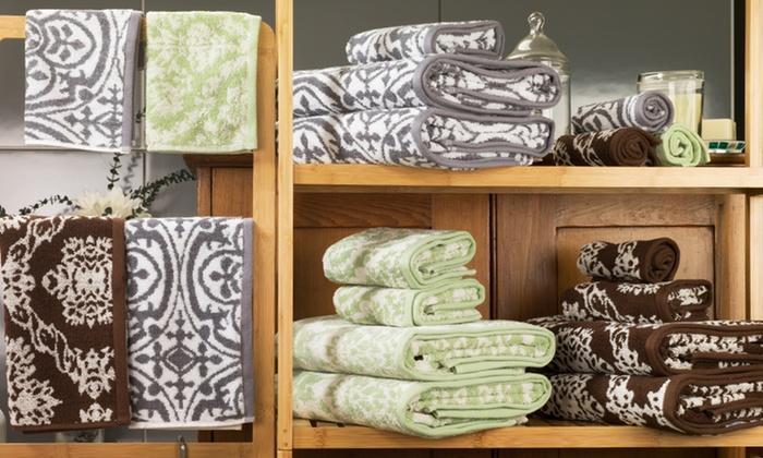 Regal Jacquard 6-Piece Towel Set: Regal Jacquard 6-Piece Towel Set. Multiple Styles Available. Free Shipping and Returns.