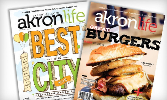"""Akron Life Magazine - Downtown Akron: $9 for a One-Year Subscription to """"Akron Life Magazine"""" (Up to $19.95 Value)"""